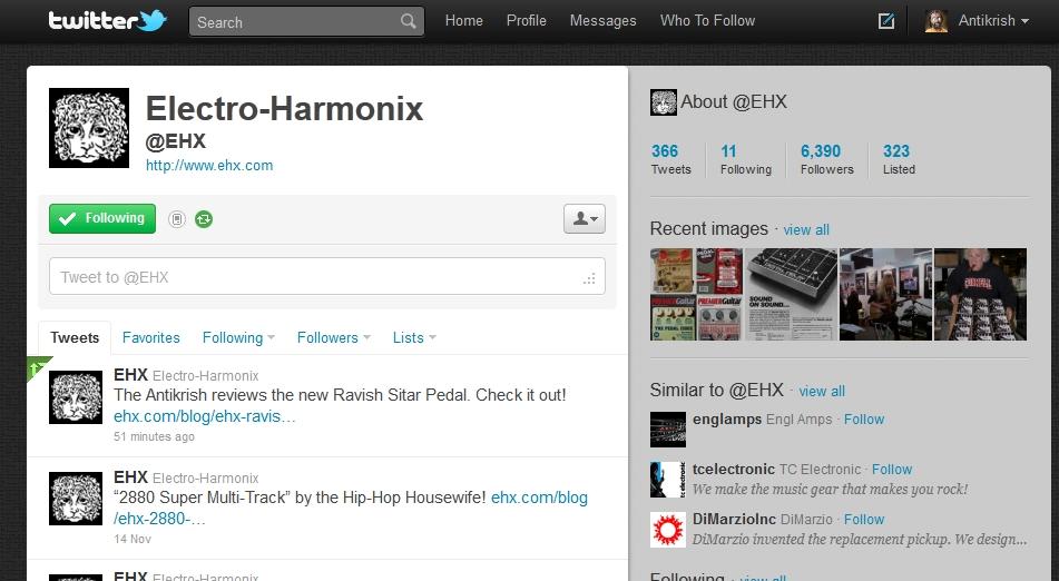 electro harmonix website