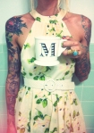 pretty floral dress maggie tattoos