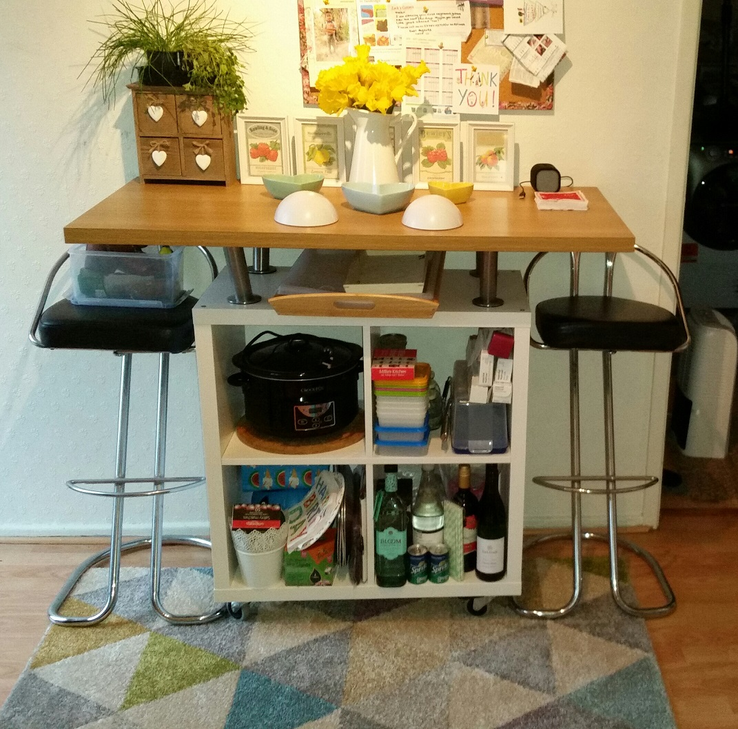 kallax breakfast bar – ikea hack | the antikrish